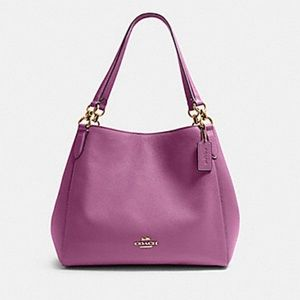 Coach Pebble Leather Shoulder Bag